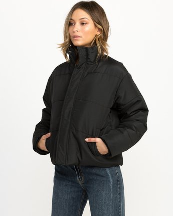 0 Eezeh Puffer Cropped Jacket Black W703QREE RVCA
