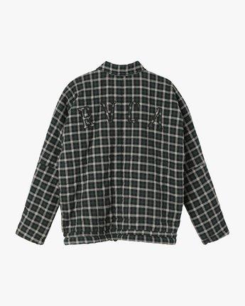 7 Caddy Plaid Flannel Jacket Green W703SRCA RVCA