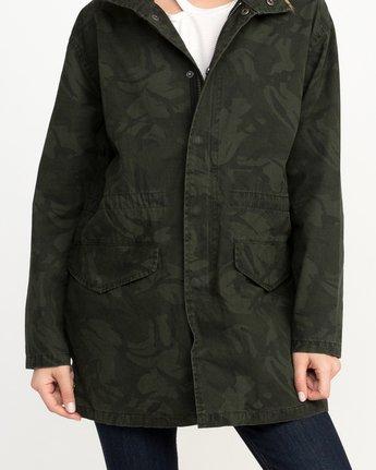 4 Racket Longline Anorak Jacket Camo W704QRRA RVCA