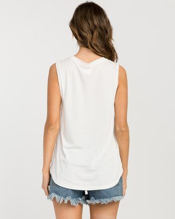 2 Bora V-Neck Tank Top White W902PRBO RVCA