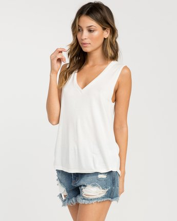 1 Bora V-Neck Tank Top White W902PRBO RVCA