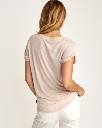 2 Brix V-Neck T-Shirt Orange W902TRBT RVCA