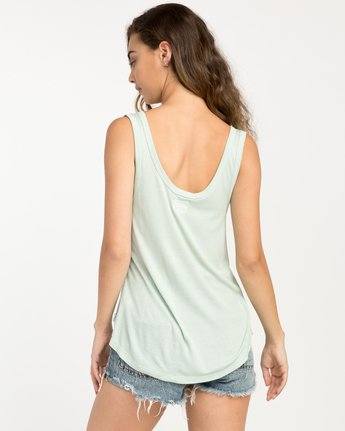 2 Zelda Ribbed Tank Top Green W907PRZE RVCA