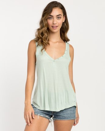 0 Zelda Ribbed Tank Top Green W907PRZE RVCA