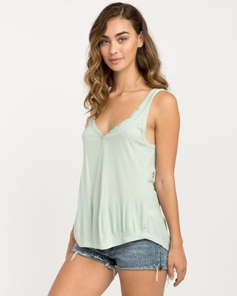 1 Zelda Ribbed Tank Top Green W907PRZE RVCA