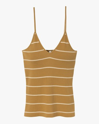 5 Tazed Striped Knit Tank Top Yellow W911SRTA RVCA