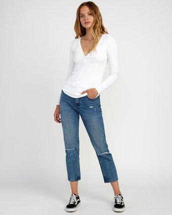 3 Zinnia Knit Long Sleeve Top White W951TRZI RVCA