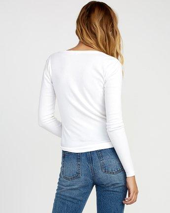 2 Zinnia Knit Long Sleeve Top White W951TRZI RVCA