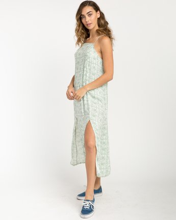 3 Garland Midi Dress Green WD01PRGA RVCA