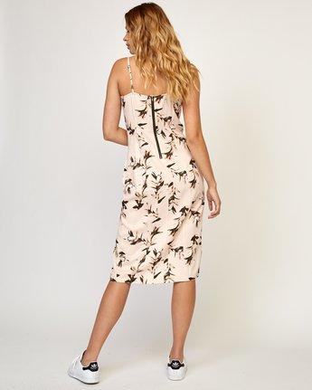 4 Fancy That Floral Dress Beige WD01TRFT RVCA