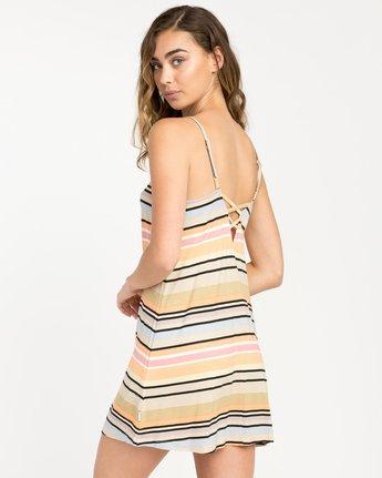 2 Hyacinth Striped Dress Beige WD02PRHY RVCA