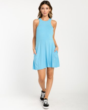 3 Iris Tank Dress Blue WD03PRIR RVCA