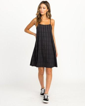 3 Exit Strappy Tank Dress Black WD04QREX RVCA