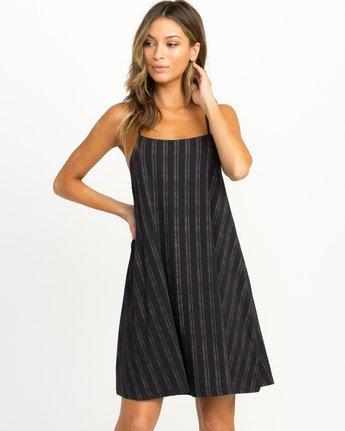 0 Exit Strappy Tank Dress Black WD04QREX RVCA