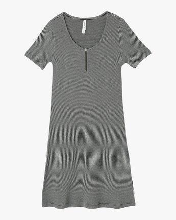 4 Zip It Ribbed Dress Black WD05NRZP RVCA