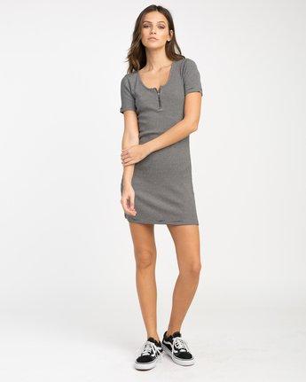 3 Zip It Ribbed Dress Black WD05NRZP RVCA