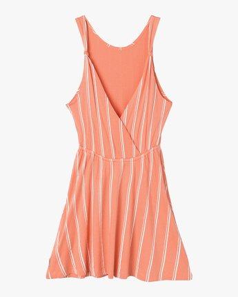 6 Peony Striped Dress Pink WD05PRPE RVCA