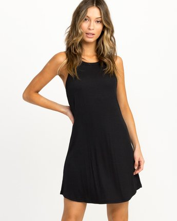 0 Linked Tank Dress Black WD05QRLI RVCA