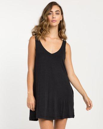 0 Chances Knit Tank Dress Black WD07NRCH RVCA