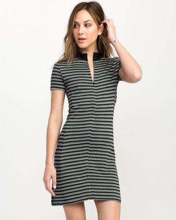 0 Shaw Striped Mock Neck Dress Black WD07QRSH RVCA