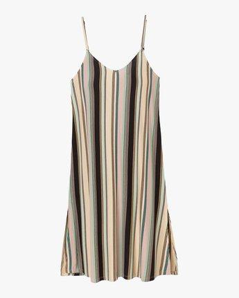 4 Jasmine Striped Midi Dress Beige WD08PRJA RVCA