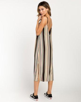 2 Jasmine Striped Midi Dress Beige WD08PRJA RVCA