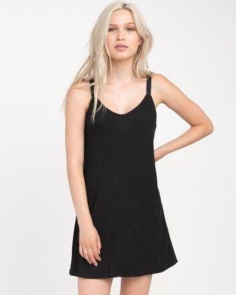 0 Switchback Knit Tank Dress Black WD10NRSW RVCA