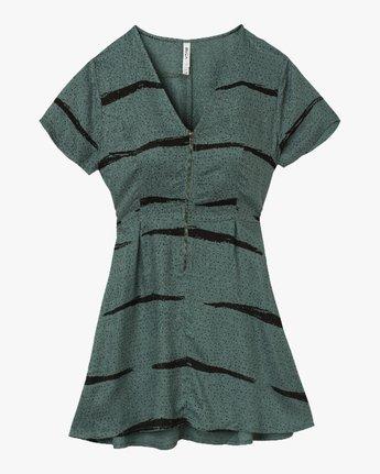 4 Dawning Printed Zip Dress Green WD10QRDA RVCA