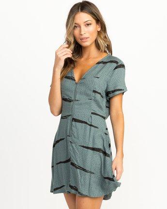 1 Dawning Printed Zip Dress Green WD10QRDA RVCA