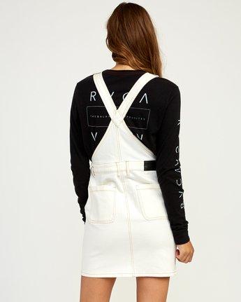 3 Conquer Denim Overall Dress White WD11TRCO RVCA