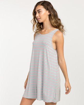 1 Lost Lane Striped Swing Dress Blue WD13PRLO RVCA