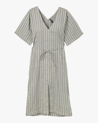 5 Sas Striped Midi Dress Silver WD13SRSA RVCA