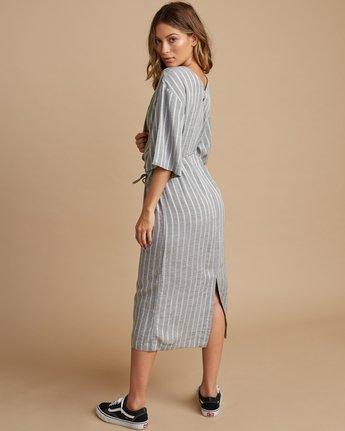 3 Sas Striped Midi Dress Silver WD13SRSA RVCA