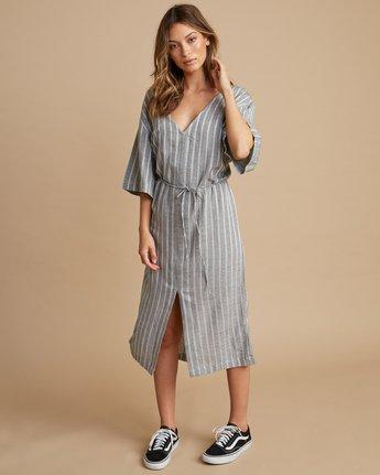 2 Sas Striped Midi Dress Silver WD13SRSA RVCA