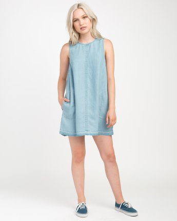 3 Release Chambray Dress Blue WD14NRRE RVCA