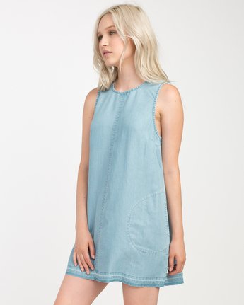 1 Release Chambray Dress Blue WD14NRRE RVCA