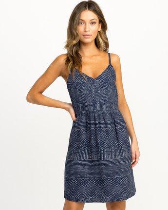 0 Nolan Printed Dress Blue WD14QRNO RVCA