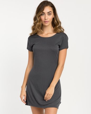 1 Wallflower T-Shirt Dress Black WD15PRWA RVCA
