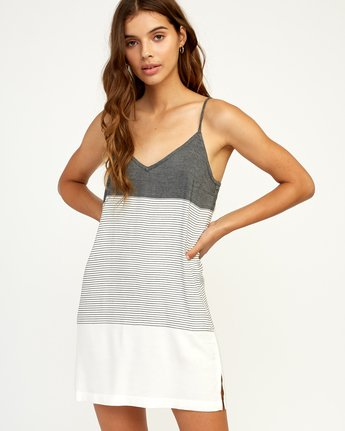 0 Odyssey Striped Tank Dress Black WD15TROD RVCA