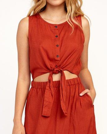 5 Arizona Woven Midi Dress Red WD16TRAR RVCA