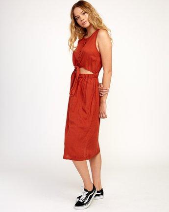 2 Arizona Woven Midi Dress Red WD16TRAR RVCA