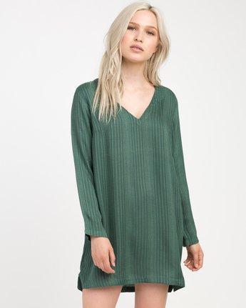 0 Foxy Lady Striped Shirt Dress  WD20NRFO RVCA