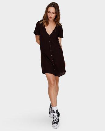 4 Benji Button-Up Dress Brown WD95TRBD RVCA