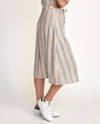1 Oslo Striped Midi Skirt Beige WK01TROS RVCA