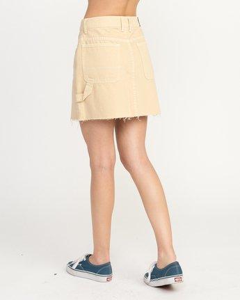 3 Hunn Neo Denim Mini Skirt Beige WK03QRNE RVCA