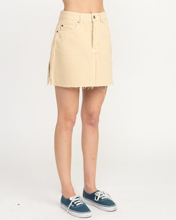 5 Hunn Neo Denim Mini Skirt Beige WK03QRNE RVCA