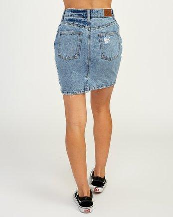 4 Jolt High Waist Denim Skirt Blue WK06QRJO RVCA