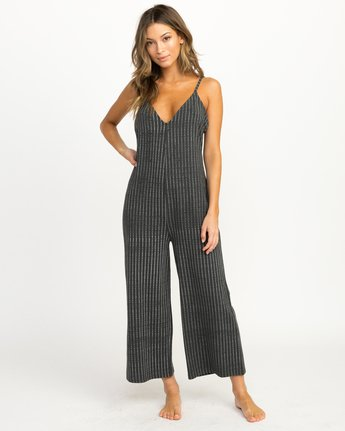 0 Bounce Wide Leg Lounge Jumpsuit Grey WL04QRBO RVCA