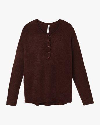 4 Urboyfriends Knit Henley Sweater Pink WL06SRUR RVCA