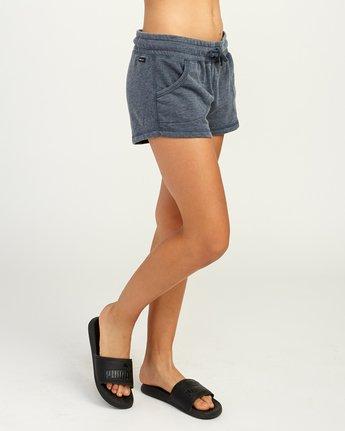 5 Ava Fleece Soft Short Blue WL08TRAS RVCA